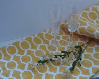 TABLE RUNNER Yellow Wedding  Table Runners baby shower