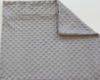 Minky Pillowcase - Standard size - Queen size - Gray
