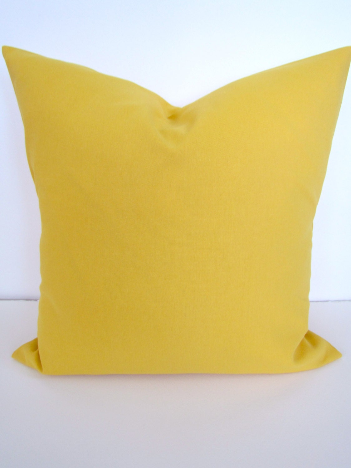 Decorative Pillow Yellow : YELLOW PILLOWS YELLOW Pillow Covers Solid Yellow Throw Pillows