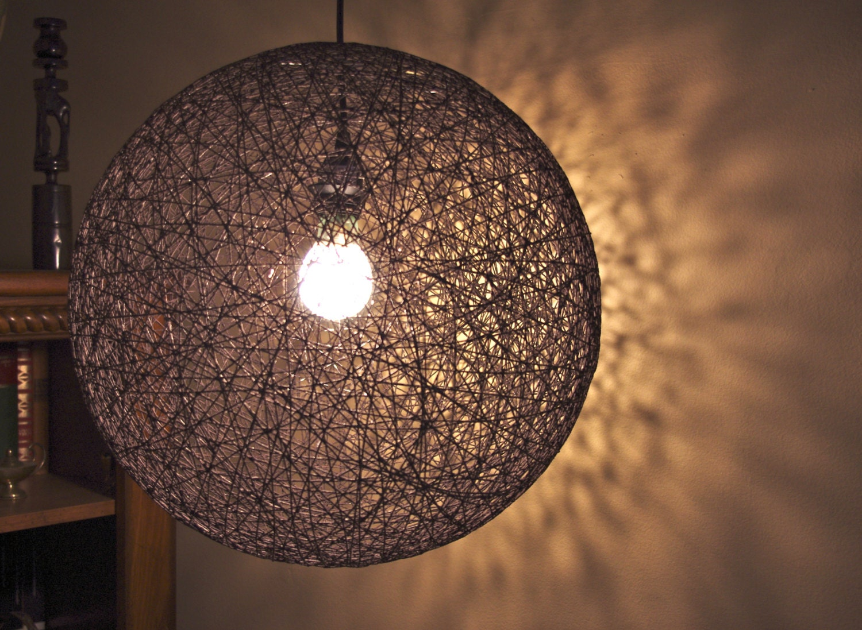 "Items Similar To Hanging Sphere String Light (18"" Hemp"