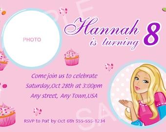 Barbie Invitation - Printable Barbie Birthday Invitation