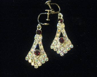 Vintage Aura or Hyacinth Borealis Earrings (FREE 925 Fish Hooks Fitted if Required)