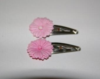 Little Pink Flower Hair Clip Set
