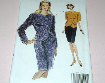VOGUE 7913 Suit Pattern size 12 to 16 Uncut and Complete