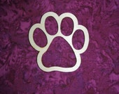 Paw Shape Unfinished Wood Cut Outs Wooden Shapes