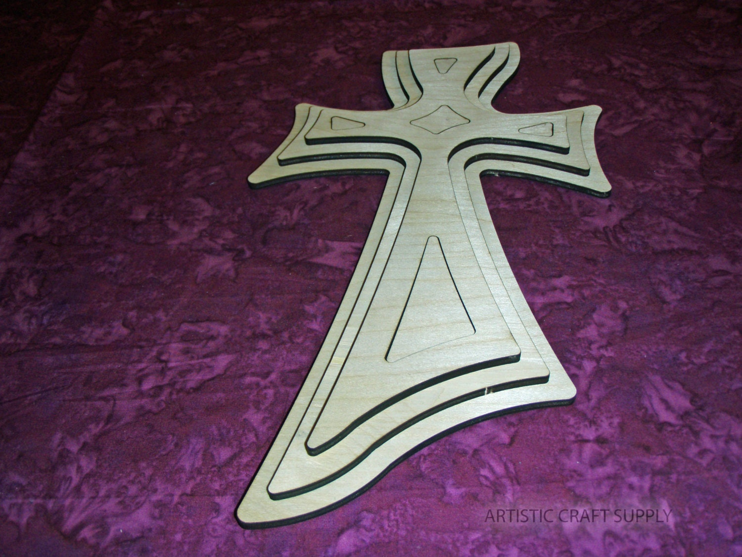 Unfinished wooden crosses for crafts -  8 25