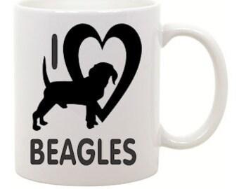 I love Beagles Coffee Mug 0008