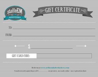 DIGITAL Gift Certificate - stellaEM Haberdashery - Newborn, Infant, Baby, Toddler, Boy Men's Bow Ties