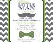Little Man Baby Shower Invitation 2