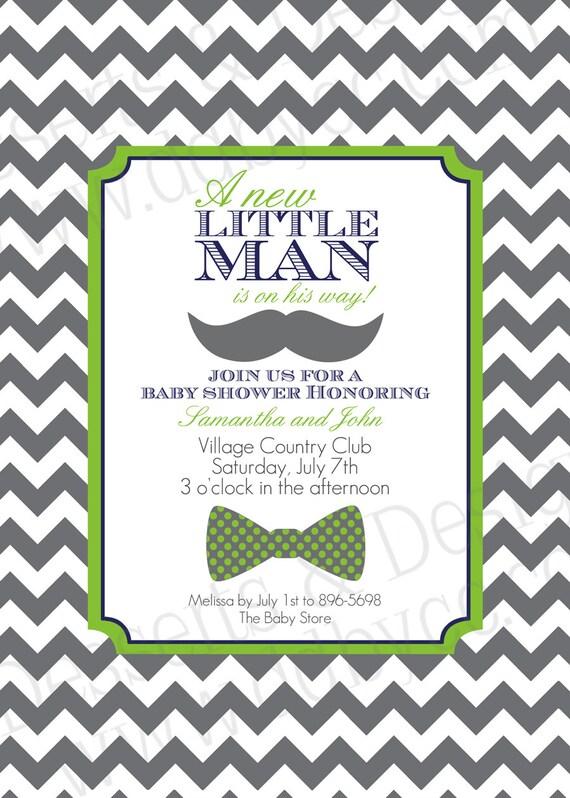 items similar to little man baby shower invitation 2 on etsy