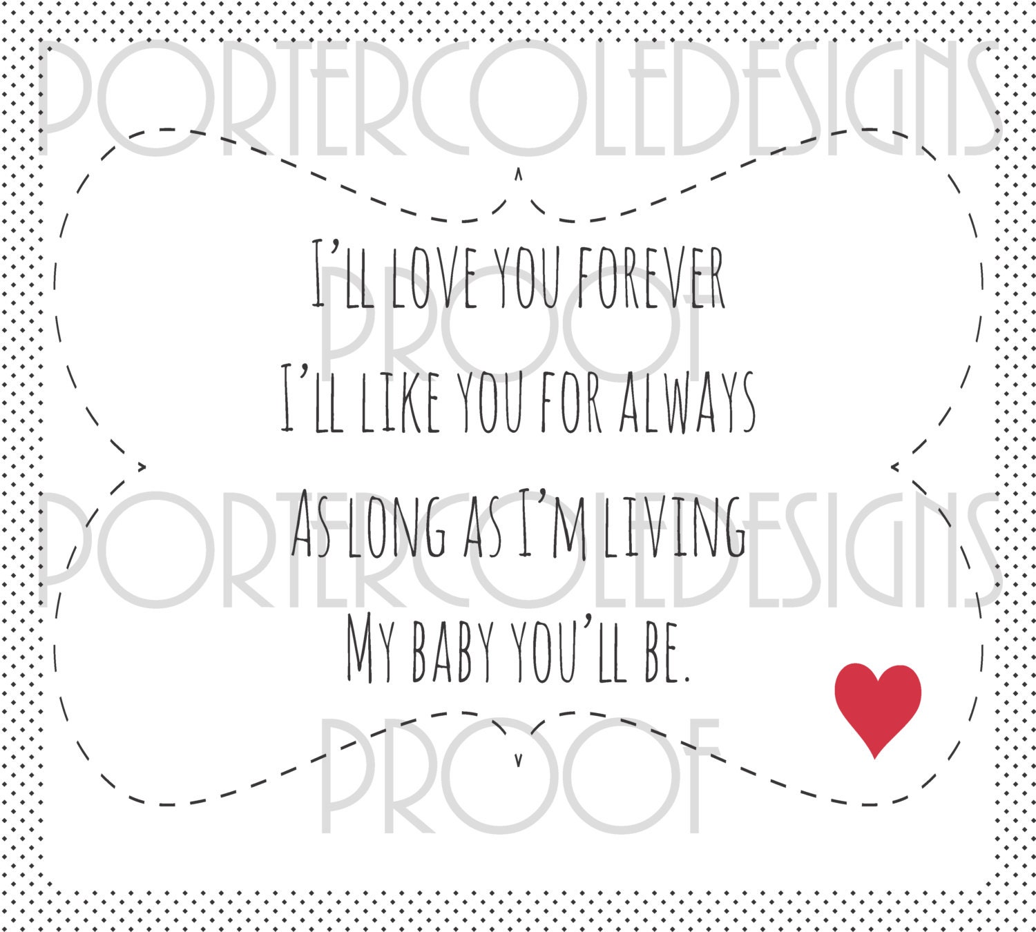 I Ll Love You Forever Quote: 18x20 I'll Love You Forever Children's Book Quote Wall