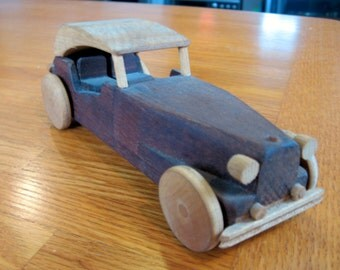 1950s Wooden MG Toy Car