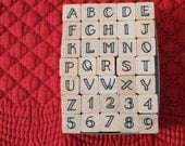 Stamp Craft Rubber Stamps   Party Alphabet