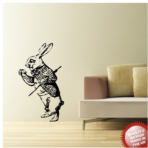 March Hare Quotes: March Hare Alice In Wondeland Vinyl Wall Decal Sticker