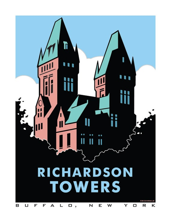 Richardson Towers Buffalo, NY Digital Print - 11x14