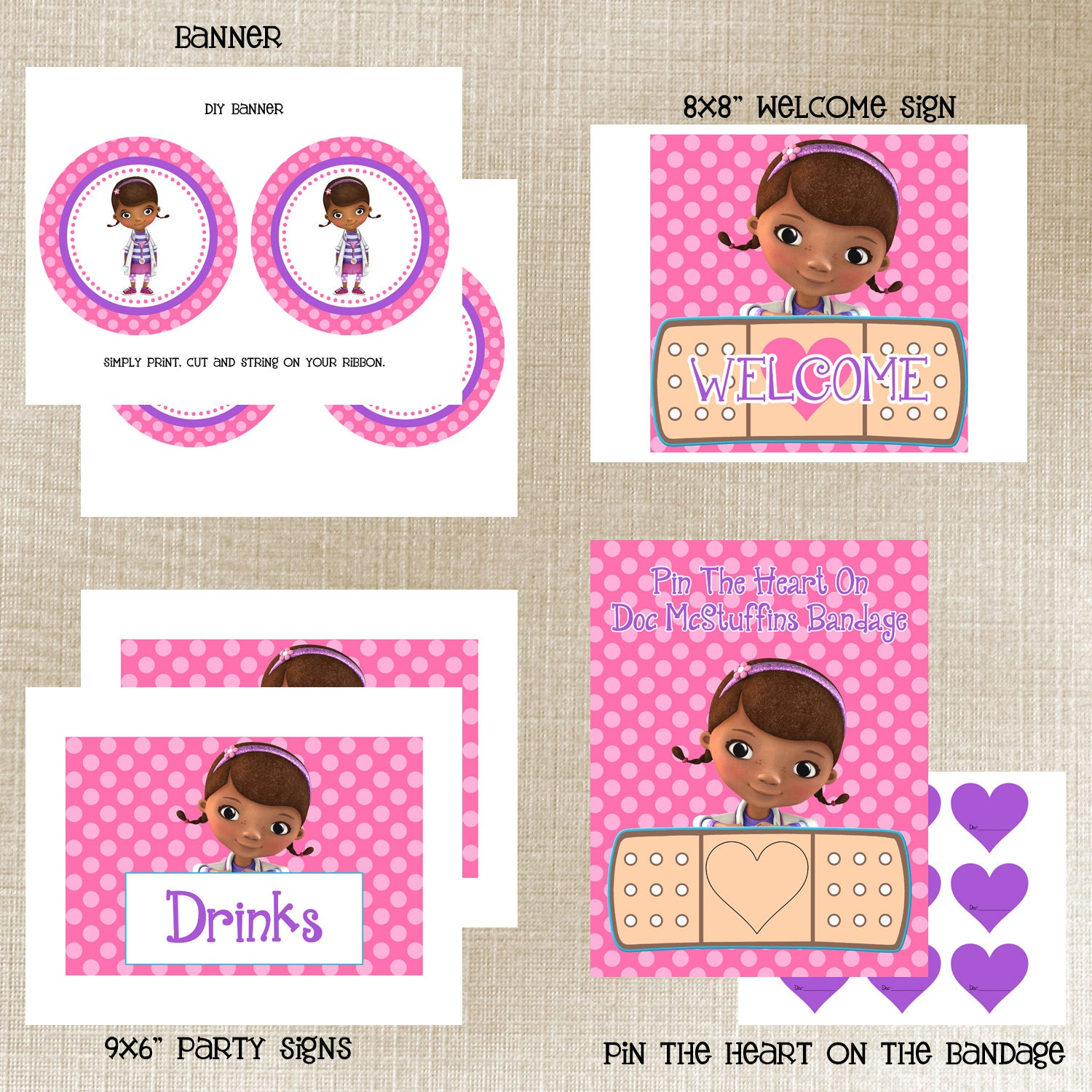 It's just a photo of Hilaire Doc Mcstuffins Party Printables