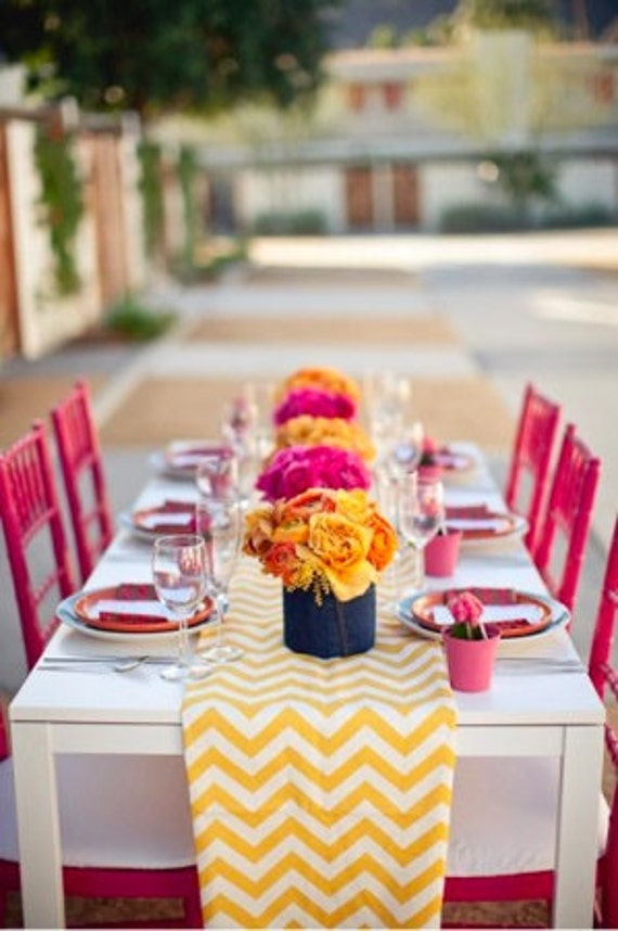 Chevron Table Runner, custom sizes available, colors available