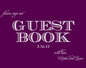 Printable Wedding Guest Book Sign- 4x6 or 5x7