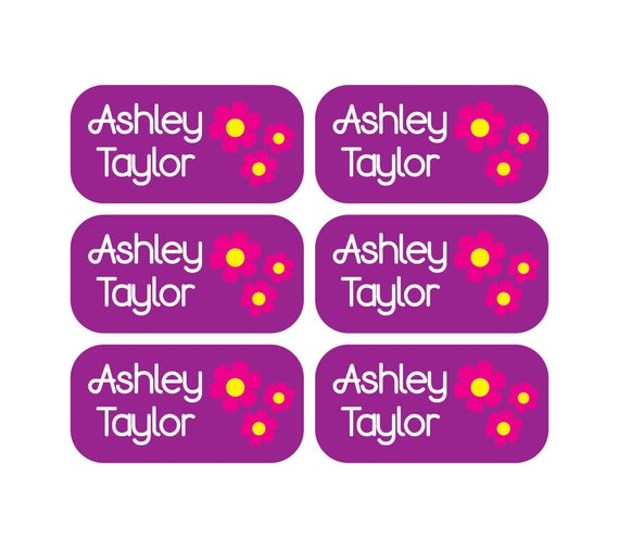 Personalized clothing tag labels daycare
