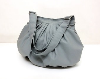 Handbags Canvas Bag Shoulder bag Hobo bagHobo bag Tote bag Messenger bag Purse Everyday bag  Light Gray  Dahlia