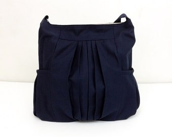 Handbags Canvas Bag Shoulder bag Hobo bagHobo bag Tote bag Messenger bag Purse Everyday bag  Dark Navy Blue  Paula