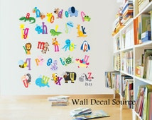 Nursery Decor, Alphabet wall decals, Alphabet Letters for Kids Room, Wall Decals for Kids, Animal Wall Decals, animal alphabet wall decals