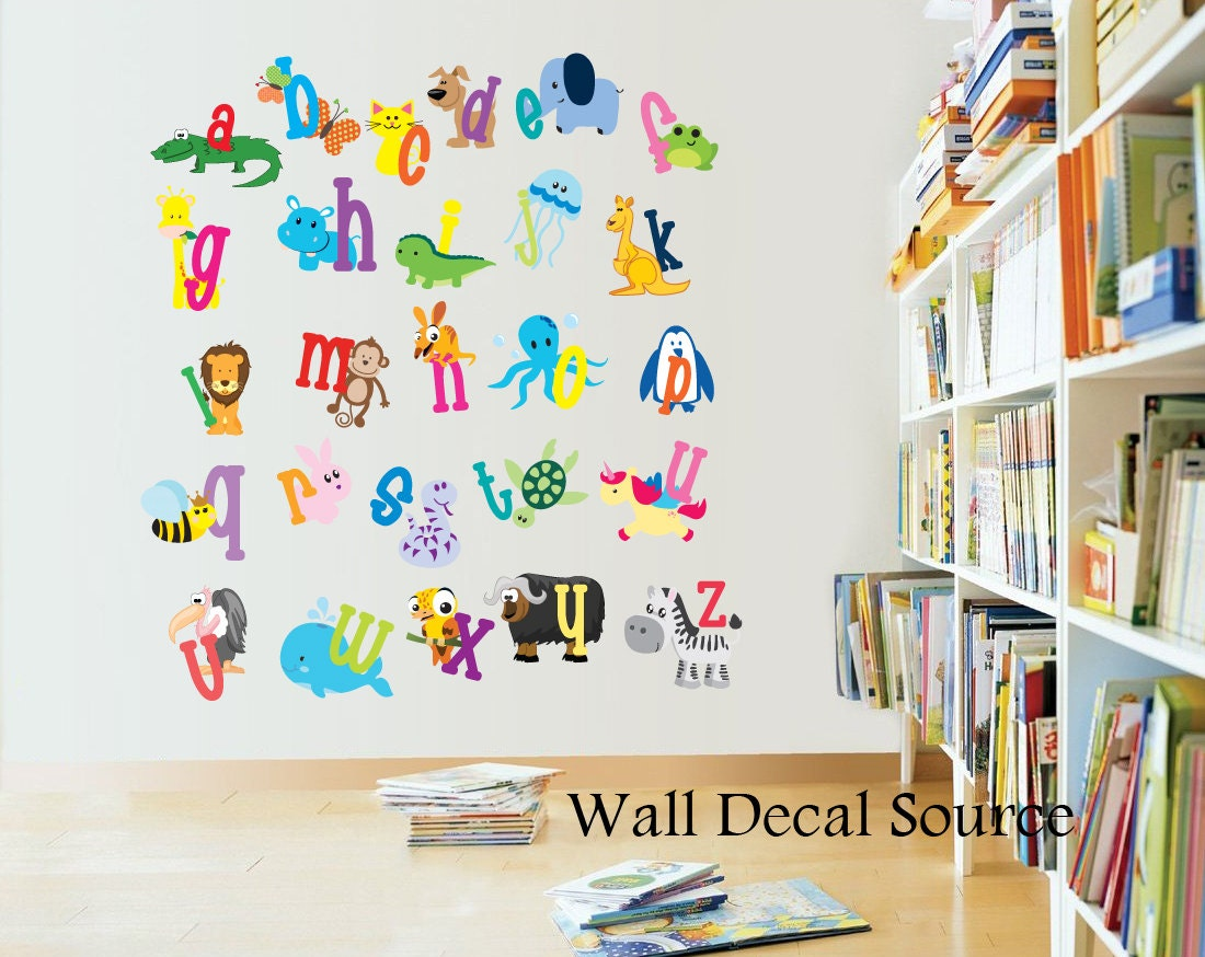 Alphabet Wall Decor Nursery : Nursery decor alphabet wall decals letters for kids