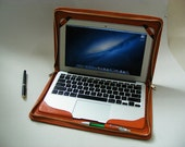 Mac air Leather Zipper Portolio Case cover Business Briefcase for Macbook Air 13 inch Apple Loptop Carrying