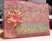 Thank You decorative card  with envelope