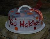 Virginia Tech Go Hokies Cake Carrier