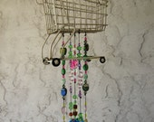 Handcrafted Wind Chimes with Silver Plate flatware, Glass/Acrylic Beads