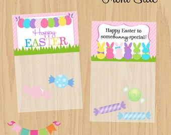 DIY Digital Treat Bag Toppers, Easter Printables, Easter Bag Toppers