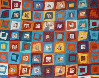 Picture quilt | Etsy : quilt with family pictures - Adamdwight.com