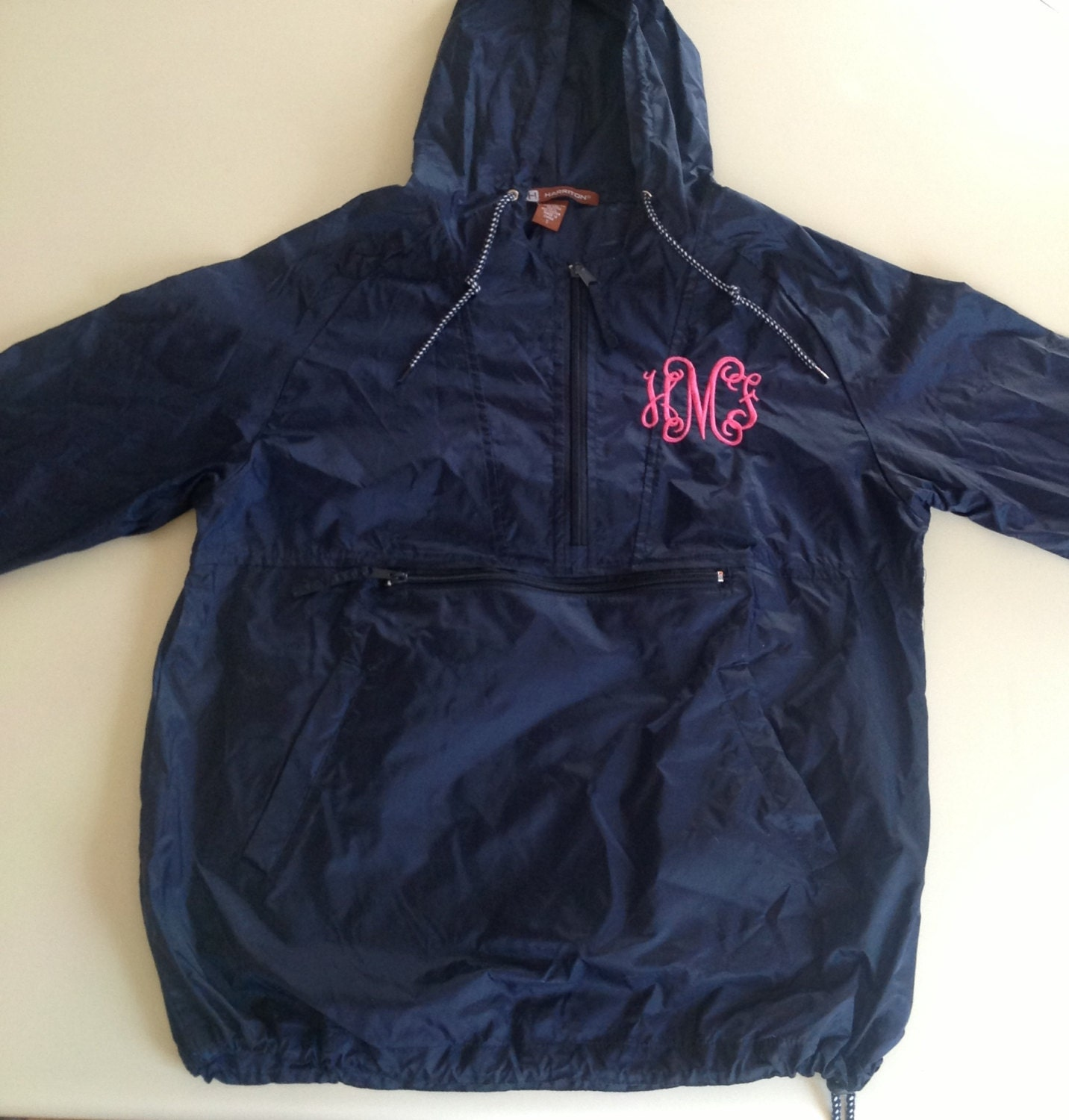 items similar to monogrammed rain jacket on etsy