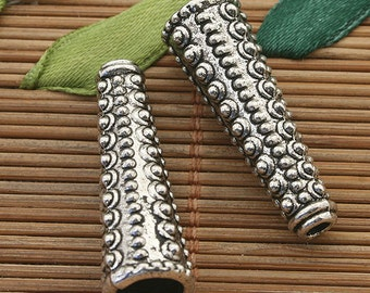 10pcs dark silver tone Punctate Cone spacer beads h3821