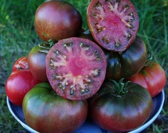 Heirloom Black Krim Tomato Seeds, Grown on Our Farm, Non GMO, 10 Seeds