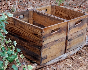 Wooden Crates/ Reclaimed Wood/ Apple Crates / Rustic Crate/ Provincial/ Pallet