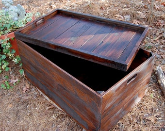 Coffee Table/ Wooden Crate/ Serving Tray/ Toy Storage/ Reclaim Wood