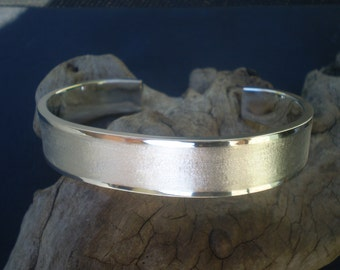 Custom order for Mick // Handmade Mens solid sterling silver cuff bangle