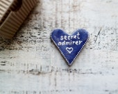 Secret admirer heart magnet love message Valentine's day Valentine Card - HandyHappyHearts