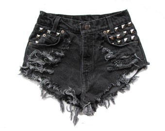 "STUD"" High Waist Shorts"