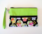 Day of the Dead Sugar Skulls Gadget Pouch or Pencil Pouch Wristlet
