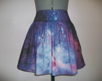 Carina Nebula/Galaxy Print Skirt