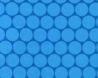 Flirty Flowers dots in Aqua by Robin Zingone for Robert Kaufman Fabrics - price is by the yard