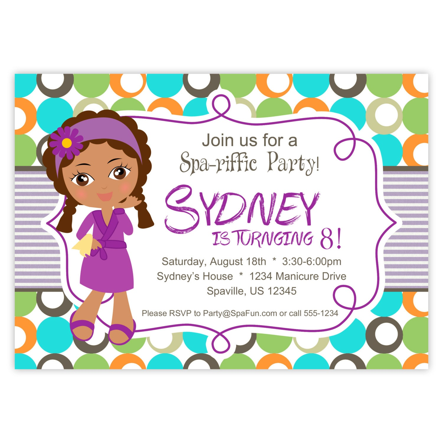 Spa party invitation – Printable Spa Party Invitations