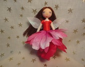"My name is ""Rose,""  Vermont doll, Valentine's fairy, Valentines doll, Woodlandolls, imaginative play doll"