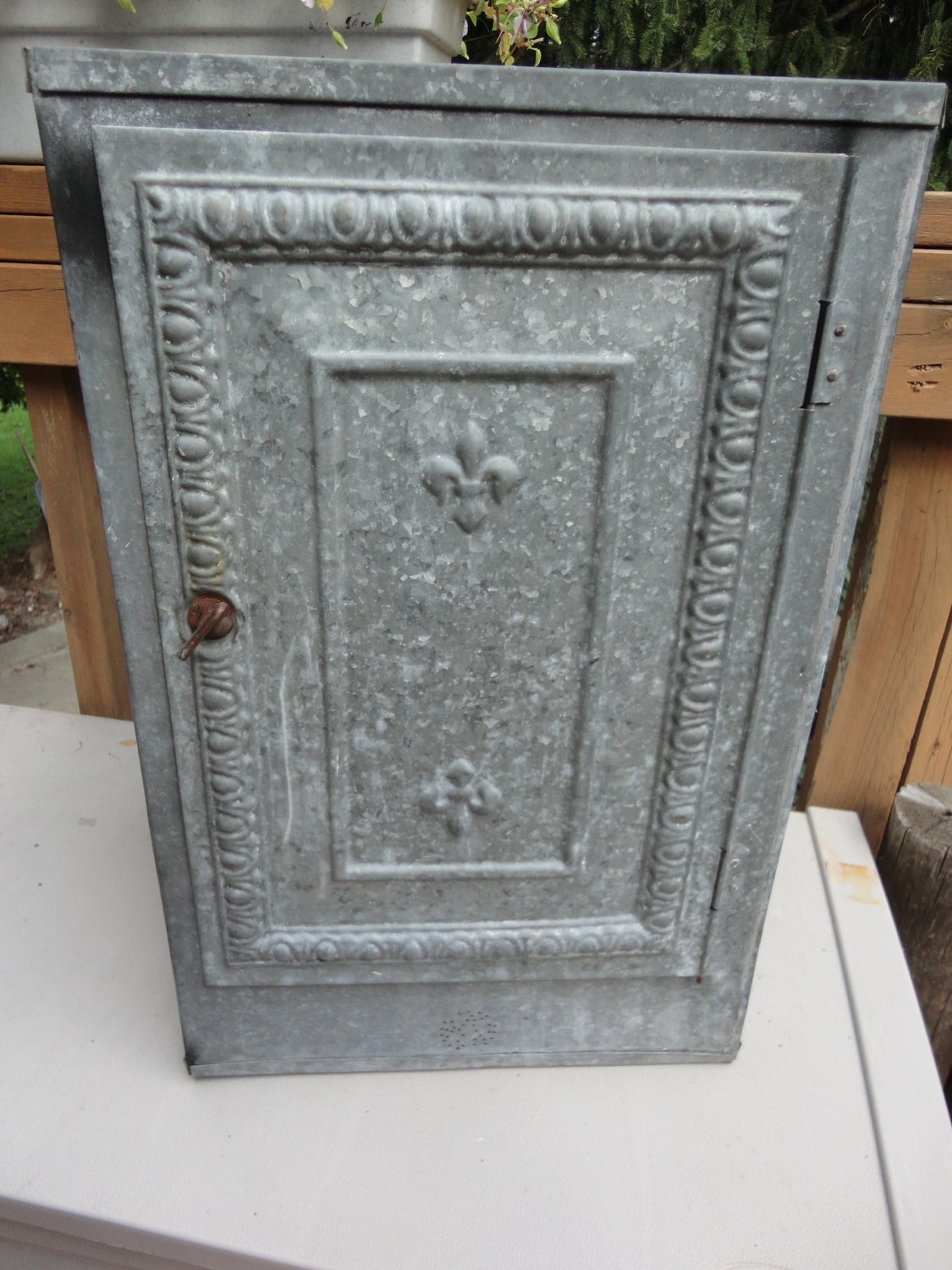Antique Metal Pie Safe Storage Cabinet Reserved For Tamra