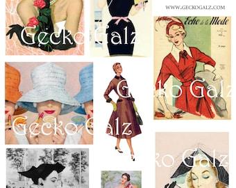 Retro Style Digital Collage Sheet
