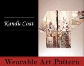 Kandu Coat - a wonderful finger-tip length coat made from many fabrics