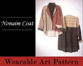 Nonaim Coat - flared, unlined easy to wear garment